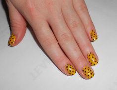 Yellow Polka Dot Nails www.instagram.com/ladyalayna  LadyAlayna.tumblr.com / Alayna Josz  #SephoraNailspotting #nailitdaily #nailart #nailartaddict #nailswag #NOTD #nailporn #nailgasm #ilovenails