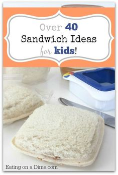HUGE Roundup of Sandwich Ideas for Kids HUGE Roundup of Sandwich Ideas for Kids to help you jazz up your lunch ideas! Your kids will love these sandwich ideas! Lunch Snacks, Lunch Recipes, Baby Food Recipes, Cooking Recipes, Lunch Box, Sandwich Recipes For Kids, Freezer Cooking, Lunch Time, Easy Cooking