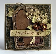 From Dorota Kopec in Poland Memory Box Cards, Card Creator, Shabby Chic Cards, Cool Cards, Cards Diy, Pretty Cards, Scrapbook Cards, Scrapbooking, Card Tags