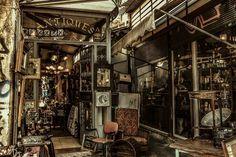 Antique shop in Monastiraki, Athens.