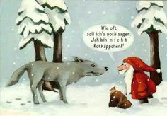 Wolf + Little Red Riding Hood + Santa Claus - Christmas Jokes, Christmas Fun, Pop Rock Songs, Charles Perrault, Funny Jokes, Hilarious, Funny Xmas, Learn German, Humor Grafico