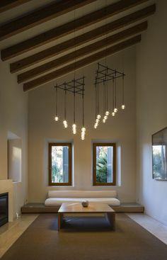 Luminária pendente LED de vidro soprado ALGORITHM by Vibia design Toan Nguyen
