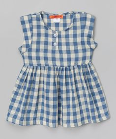 Sweet Blue Gingham Babydoll Dress