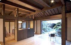 民家 再生 - Google 検索 Old Folks, Japanese Architecture, Japanese House, Good Old, Entrance, Pergola, Outdoor Structures, Places, Modern