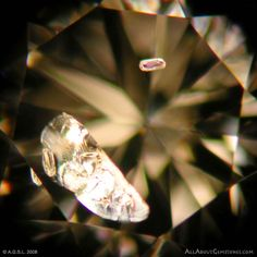 Diamond Inclusions: Garnet & Feather Inclusions