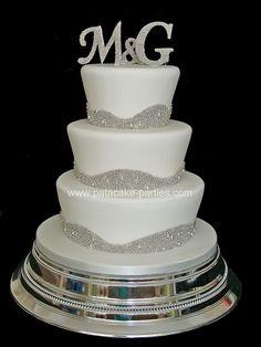 'Bling' Wedding Cake