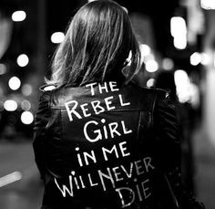 She was a quiet rebel, she wasn't loud or in your face but she had her own mind. She couldn't be told what to do, She'd be polite and then still go on her own way..