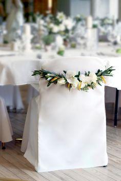 Zitrusfrüchte und Olivenzweige - was braucht man mehr für eine mediterrane Hochzeit? - Dekoration von www.tischleinschmueckdich.de