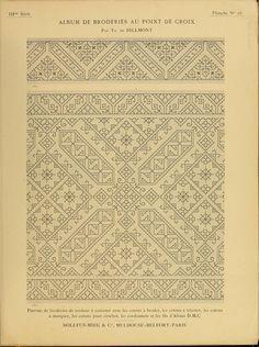 Album de broderies au point de croix Pattern Books, Album, Cross Stitching, Good Books, Le Point, Needlework, Embellishments, Embroidery, Sewing