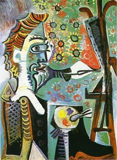 An artist - Pablo Picasso 1963 http://www.wikipaintings.org/en/pablo-picasso/an-artist-1963