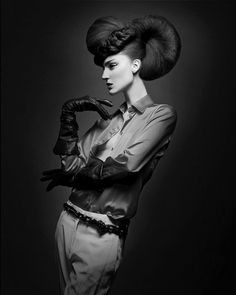 Knight Rider by Dimitrios Tsioumas and the Goldwell Creative Team/ click pic for full collection Creative Hairstyles, Up Hairstyles, Crazy Hair, Big Hair, Avant Garde Hair, Editorial Hair, Fantasy Hair, Hair Shows, Hair Art