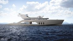 The newest mega-yacht has its own garden (and its own beach!)