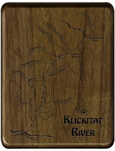 STONEFLY STUDIO'S  KLICKITAT RIVER MAP  FLY BOX -  Handcrafted, Custom Designed Laser Engraved - Personalize with Name and Inscription for a perfect fly fishing gift!  Made In Montana.  Fly Fishing Washington Fly Fishing Gifts, Fish Artwork, Playing Card Box, Map Design, Custom Map, Personalised Box, Groomsman Gifts, Laser Engraving, Washington River