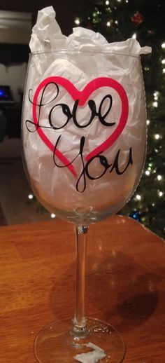 Valentines Wine Glass by BlueLineDesigns441 on Etsy https://www.etsy.com/listing/218847029/valentines-wine-glass