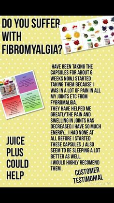 Juice Plus and its effects on #fibromyalgia #juiceplus www.facebook.com/ahappyhealthieryou