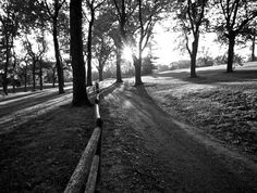 """""""Long Shadow Path.""""    Late afternoon in Omaha's Elmwood Park."""