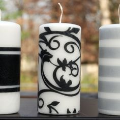 Very easy to make tissue paper candle craft.