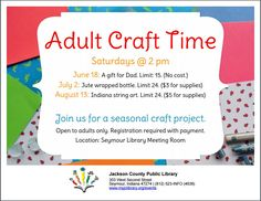 THIS PROGRAM HAS EXPIRED -- Join us for a seasonal craft project, just for adults!