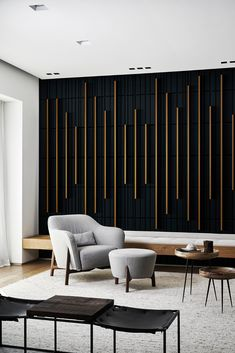 Wall idea to cover secret doors in dining room Feature Wall Design, Feature Wall Bedroom, Accent Walls In Living Room, Wall Decor Design, Bedroom Wall, Living Room Decor, Bedroom Decor, Wall Panel Design, Dining Room Feature Wall