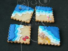 Cookier unknown: Beach themed cookies