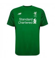 Liverpool Brankářské Domácí Dres 17-18 Krátký Rukáv Liverpool Fc, Premier League, Mens Tops, T Shirt, Supreme T Shirt, Tee Shirt, Tee