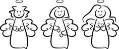 Drei kleine Engel-Mädchen mit Heiligenschein