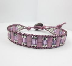 Your place to buy and sell all things handmade Wrap Bracelets, Jewelry Bracelets, Bangles, Beaded Leather Wraps, Healing Crystal Jewelry, Beaded Jewelry, Unique Jewelry, Silver Beads, Swarovski Crystals
