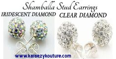 THE MOST POPULAR AND BLINGY VERSATILE TRENDY STUD EARRINGS OUT! AND WE BRING THEM TO YOU FOR LE$$!