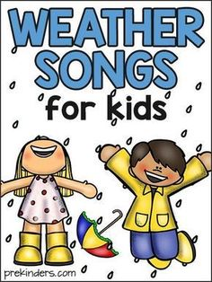 These Weather and Seasons songs will go great with a theme on Weather in your preschool, Pre-K, or Kindergarten classroom. Weather Activities for Kids | Weather Worksheet | Weather Chart for Kids | Weather Activities for Toddlers | Weather Experiments | Children's Weather Chart | Weather Activities for Preschoolers | Weather Projects for Kids | Weather Science Experiments | Weather Activities for Kindergarten #weather #weatheractivities