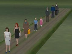 Gehende Menschen Set 1
