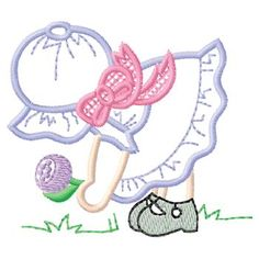 baby embroidery designs | Embroidery Baby: Girl W / Bonnet Embroidery Design