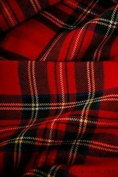 My maternal grandfather's side wore this tartan. The groom and groomsmen all wore this tartan when hubby and I married Very Handsome Scottish Plaid, Scottish Tartans, Scottish Highlands, Red Plaid, Plaid Scarf, Plaid Blanket, Royal Stewart Tartan, Tartan Fabric, Tartan Material