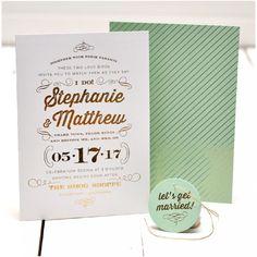 I Do Foil Duplex Wedding Invitation | Smitten on Paper