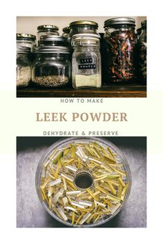 Dehydrate your leeks and make leek powder! Delicious and punchy flavour, used on almost all food. Preserves, Powder, Meat, Food, Preserve, Face Powder, Essen, Preserving Food, Meals