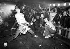 The Ramones at Eric's Club in Liverpool, England, 1977.