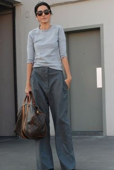 those would be #EzgiKiramer's trademark just-the-right-amount-of-slouch trousers. She is fabulous. Turkey. #luxuryshoppers