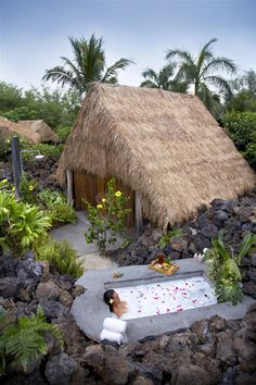 Spa Hale & Bath at Mauna Lani Bay Hotel And Bungalows (Kohala Coast, Big Island) Hawaii.   I want to go there . . . one day. I mean it was named for me..