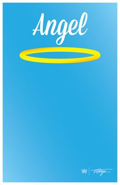 """Can be printed and hung so a person's photo can be taken with a halo and the tag, """"Angel"""" above their head. Halo, Posters, Printed, Digital, Logos, Scale, Logo, Poster, Prints"""
