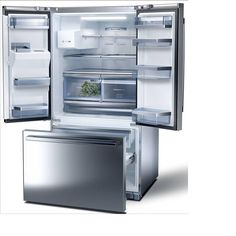 Shop Bosch 25.9-cu ft French Door Refrigerator with Single Ice Maker (Stainless Steel) ENERGY STAR at Lowes.com