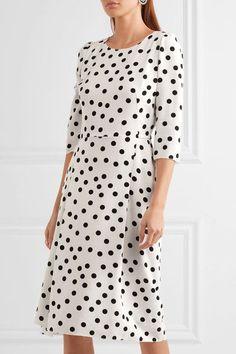 Dolce & Gabbana | Polka-dot cady midi dress | NET-A-PORTER.COM