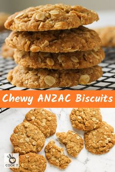 Love your Anzac biscuits chewy Me too This recipe creates perfectly soft chewy Anzac biscuits every time with just a few simple ingredients Cook in either the oven or the air fryer instructions are included for both The best bikkies for morning tea Chewy Anzac Biscuits Recipe, Anzac Cookies Recipe, Healthy Biscuits, Almond Cookies, Baking Recipes, Cookie Recipes, Snack Recipes, Dessert Recipes, Recipes