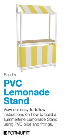 How to Build A PVC Lemonade Stand Pvc Pipe Projects, Daisy Girl Scouts, Girl Scout Troop, Tiki Hut, Market Stalls, Lemonade Stands, Cookie Time, Diy For Kids, Crafts For Kids
