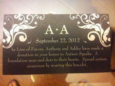 Donation Favors :  wedding black purple reception white 20120627 125622