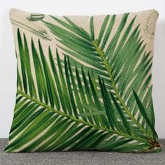 Fashion Plant Bamboo Pattern Flax Pillow Case(Without Pillow Inner) (COLORMIX) in Decorative Pillows & Shams | DressLily.com