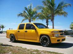 Yellow chevy colorado | 2005 Yellow Chevy Colorado Xtreme LS Crew Cab: cool daddy truck