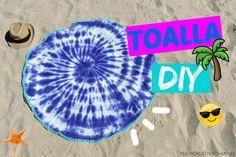 DIY Verano - Toalla redonda teñida - Summer DIY - round towel tie dye