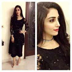 Maya Ali on black dress She looks pretty