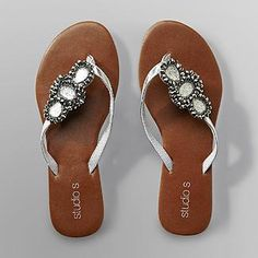 ae981a9830abd  8 up to size 11 Studio S Women s Jeweled Flip-Flops - Shoes - Womens