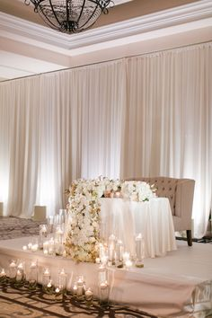 Elegant Wedding Table In 2020 Elegant Wedding Head Table Decoration Ideas Emmalovesweddings Head Table Wedding Decorations, Decoration Buffet, Head Table Backdrop, Head Table Decor, Wedding Reception Backdrop, Wedding Stage, Wedding Centerpieces, Wedding Events, Dream Wedding