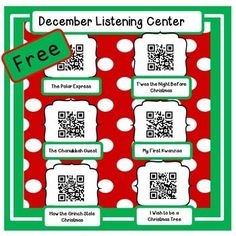 Just add i-pods or i-pads and your students are ready to hear five stories. Instructions are included. Laminate this page, and put it in your listening center. Watch how fast your children are engaged! The Instant Listening Center for December features six stories.